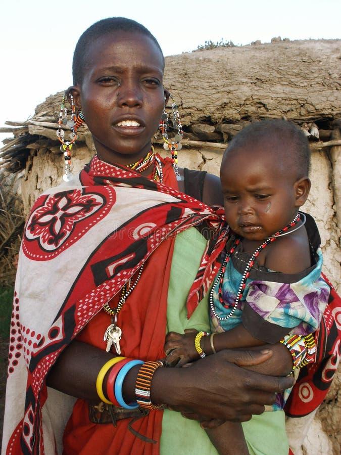 Free Maasai Mother With Child Stock Photos - 11722723
