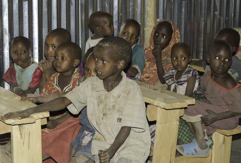 Maasai skola royaltyfri bild