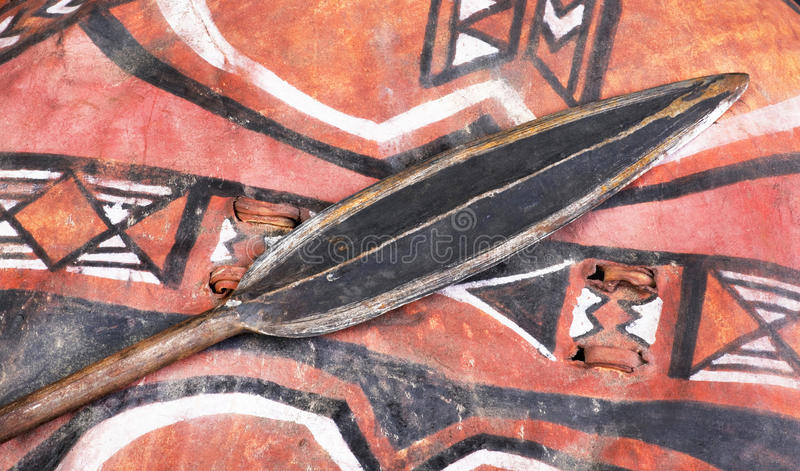 African Tribal Warrior Shield Spear Stock Images - Download