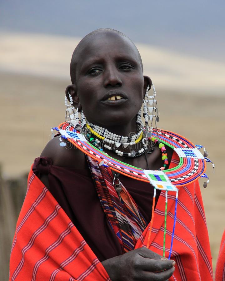 Download Maasai woman editorial photography. Image of black, africa - 20583447