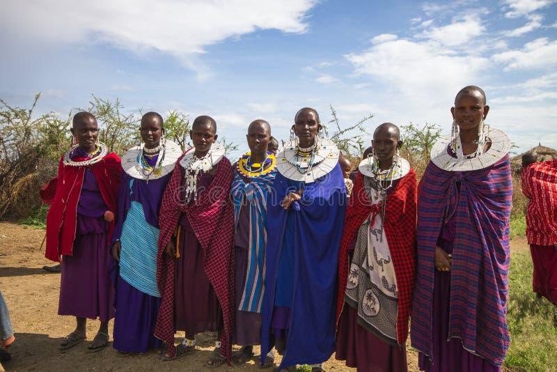 Maasai women. Photography taken in Arusha, Tanzania royalty free stock images
