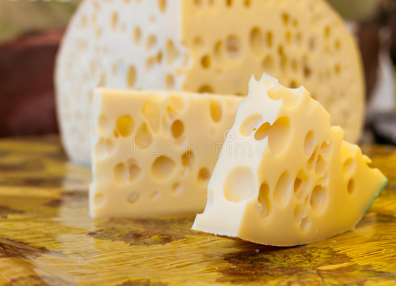 Maasdam cheese stock images