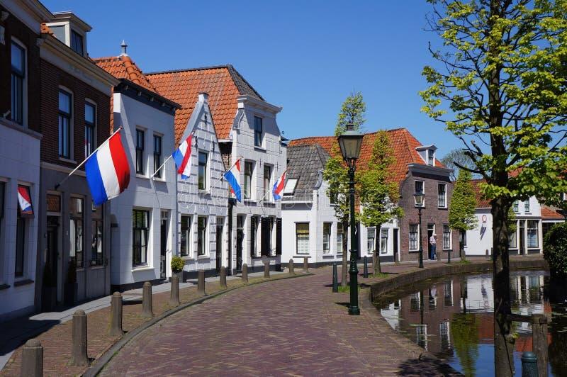 Maasland村庄在荷兰 免版税库存图片