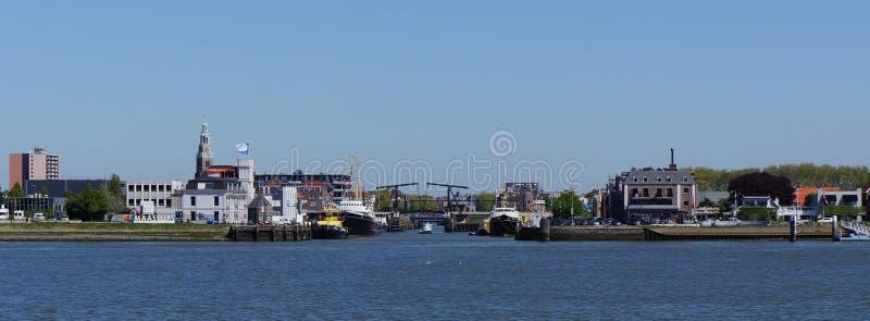 Maassluis, die Niederlande stockfotos