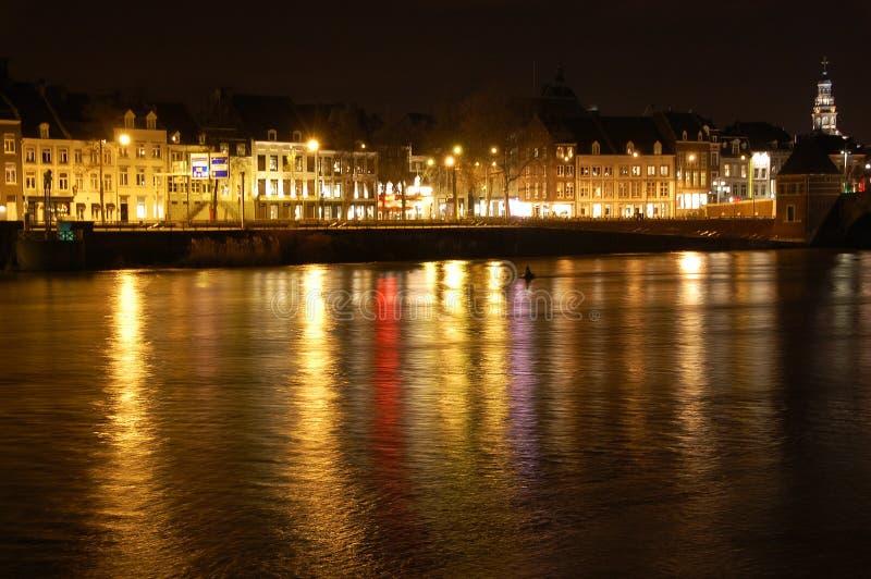 Maastricht la nuit photo stock