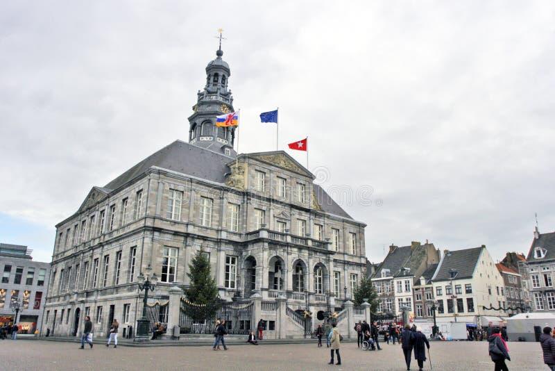 Maastricht, Paesi Bassi - casa urbana fotografia stock libera da diritti