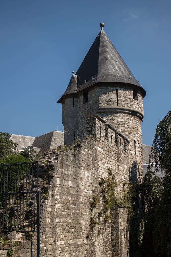 Maastricht stadsvägg arkivbild