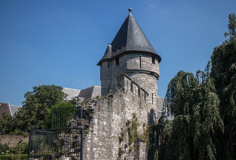 Maastricht stadsvägg royaltyfria bilder