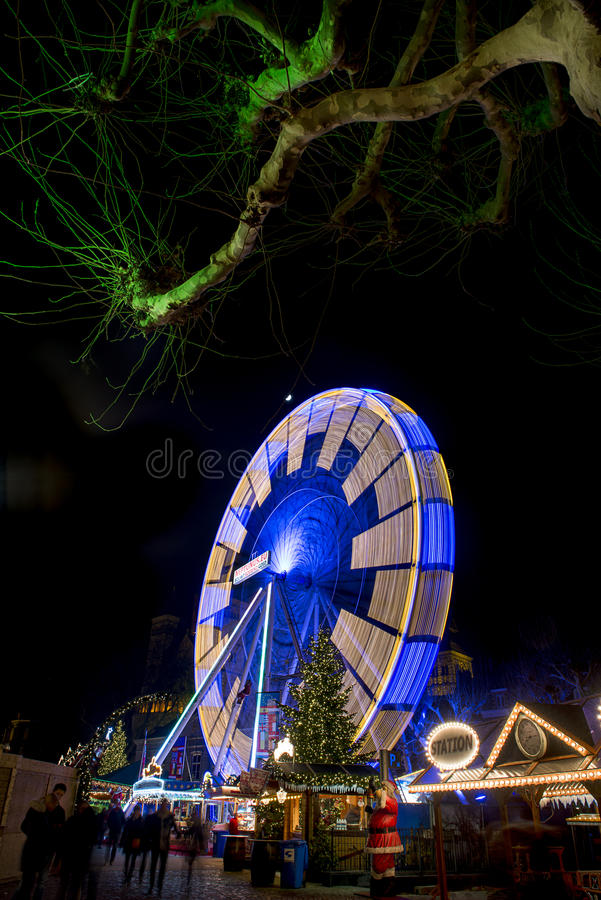 Maastricht Winterwonderland Magisch Maastricht stockbild