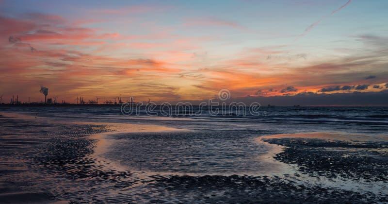 Maasvlakte. Port of Rotterdam. stock photo