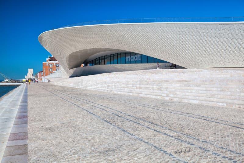 MAAT Museu De Arte, Arquitetura e Tecnologia budynek w Lisbon, Portugalia obrazy royalty free