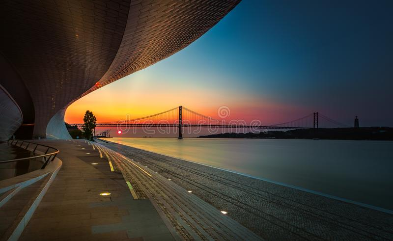 MAAT at Sunrise royalty free stock photography