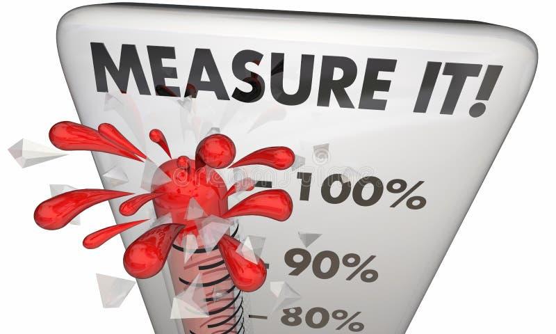 Maatregel het Groot het Resultaatresultaat van Thermometermetriek royalty-vrije illustratie