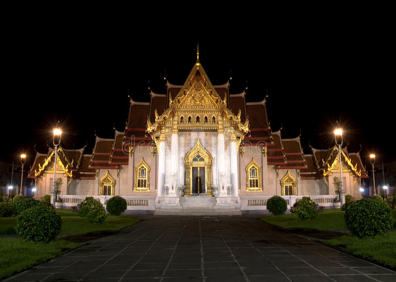 mable ναός νύχτας στοκ φωτογραφίες με δικαίωμα ελεύθερης χρήσης