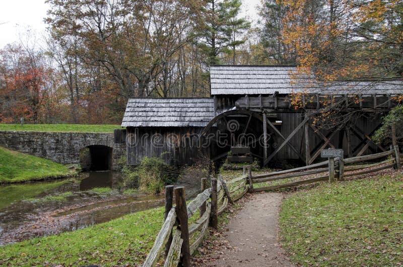 Mabry Grist Mill Blue Ridge Parkway Virginia USA stock photography