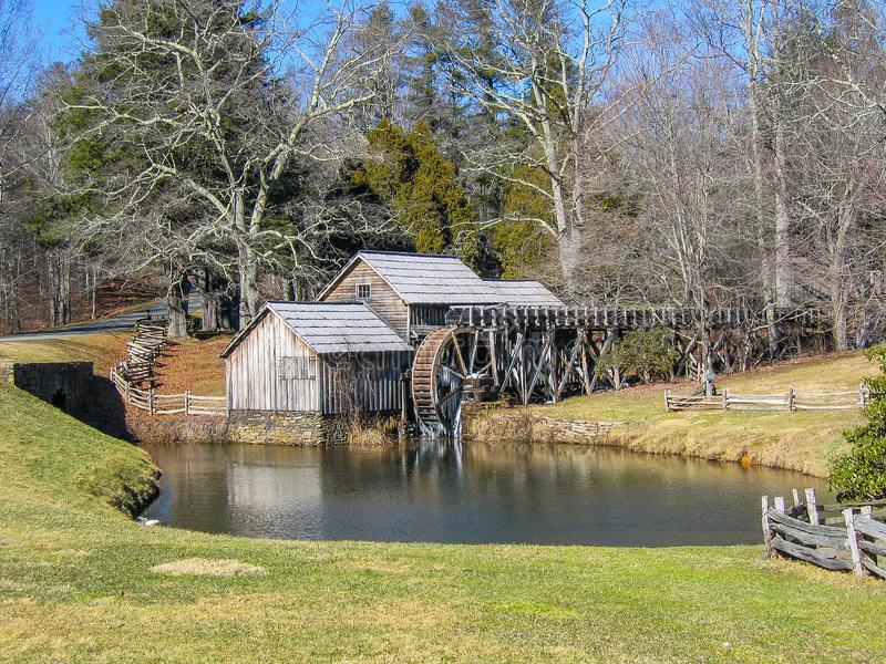 Mabry Mill near Meadows of Dan, Virginia. Mabry Mill, a popular tourist spot, is located on the Blue Ridge Parkway near Meadows of Dan, Virginia stock photo