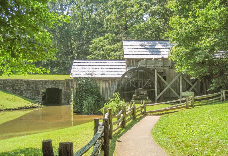 Mabry Mill near Meadows of Dan, Virginia. Mabry Mill, a popular tourist spot, is located on the Blue Ridge Parkway near Meadows of Dan, Virginia stock photos