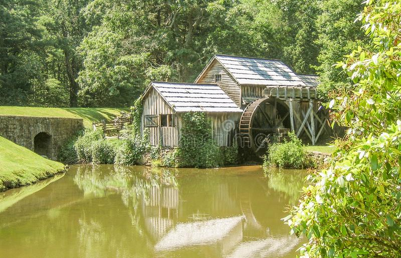 Mabry Mill near Meadows of Dan, Virginia. Mabry Mill, a popular tourist spot, is located on the Blue Ridge Parkway near Meadows of Dan, Virginia royalty free stock photography