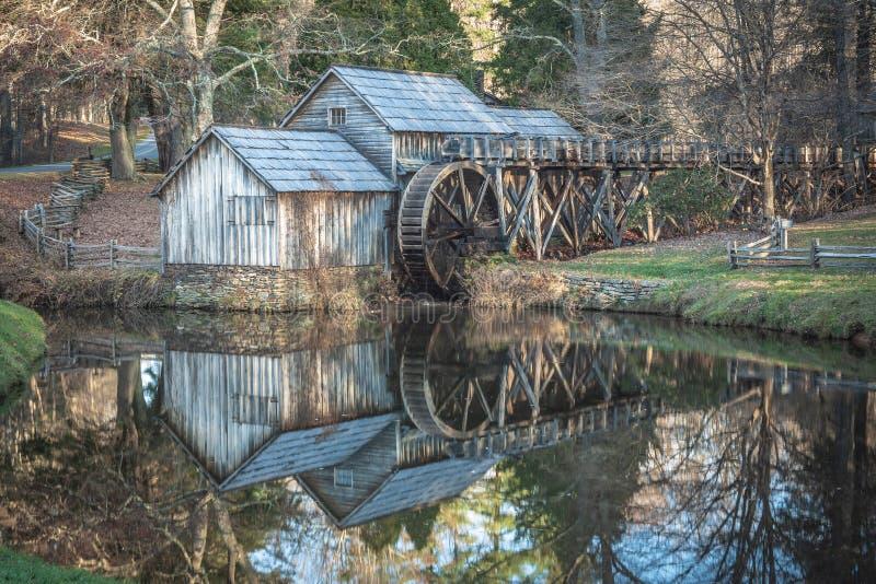 Mabrymolen op Blauw Ridge Parkway royalty-vrije stock fotografie