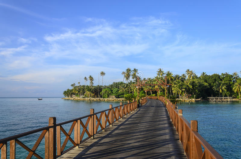Mabul海岛,沙巴,马来西亚 图库摄影
