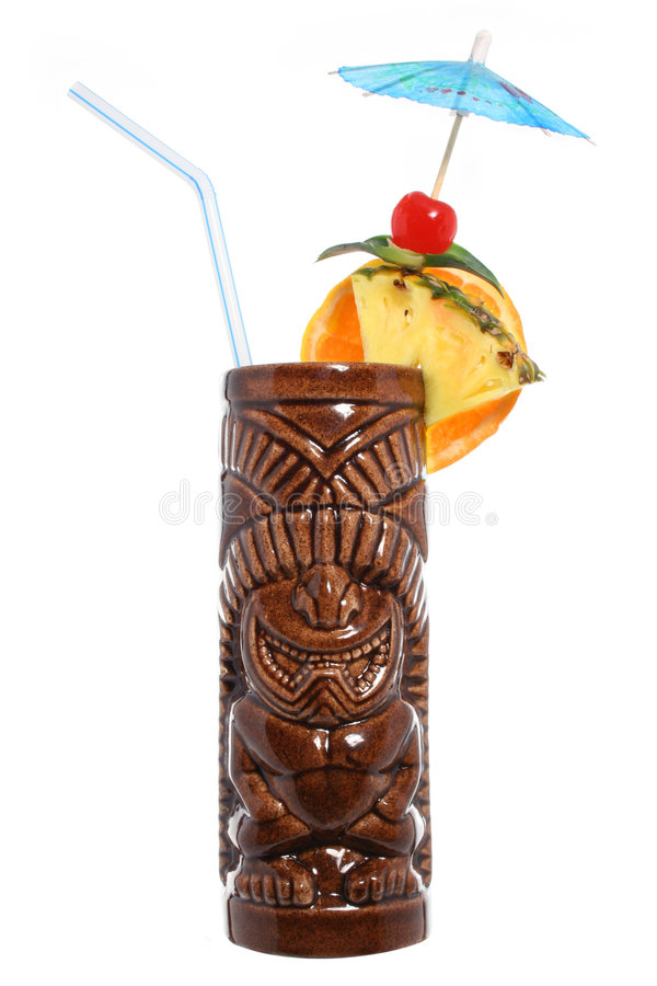 Macédoine de fruits tropicale de Tiki photographie stock