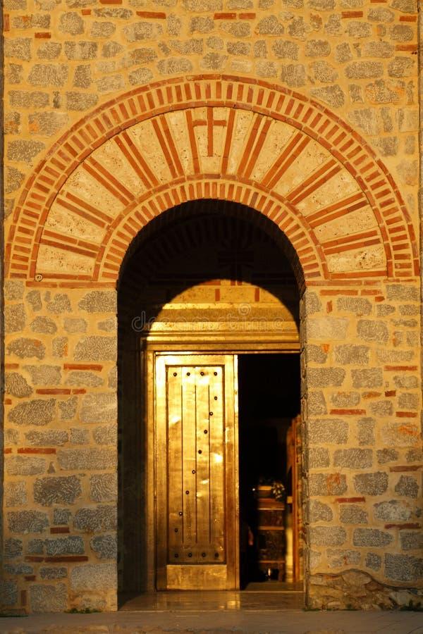 Macédoine, Ohrid/Ochrid, saint KClement et église de Pantelimon images stock