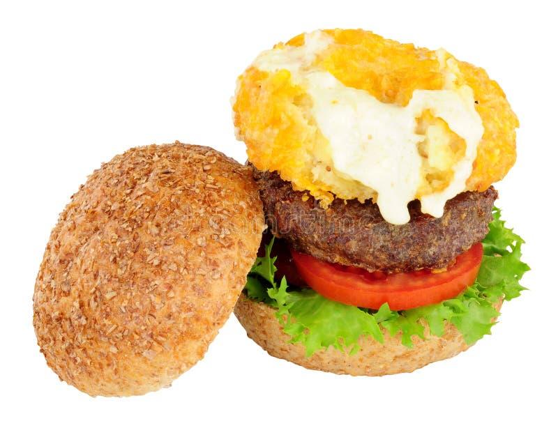 Mac και Beefburger τυριών σάντουιτς στοκ εικόνα