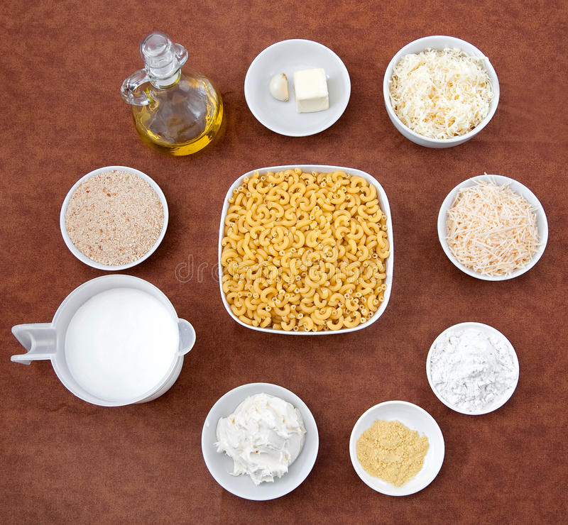 Download Mac and cheese ingredients stock photo. Image of classic - 15147762