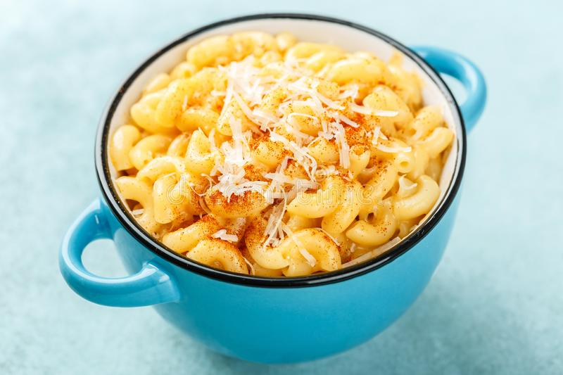 Mac and cheese stock image