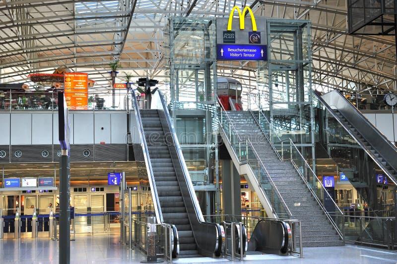 Frankfurt airport terminal stock image