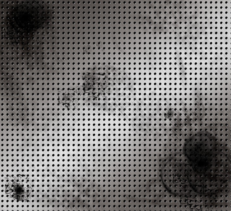 MAC Geborsteld verontrust aluminium vector illustratie