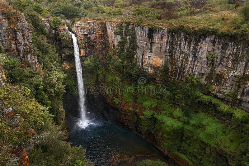 Mac Mac falls Mpumalanga South Africa. Mac Mac falls on the Panorama route Mpumalanga South Africa. The waterfall is 213 feet high royalty free stock photo