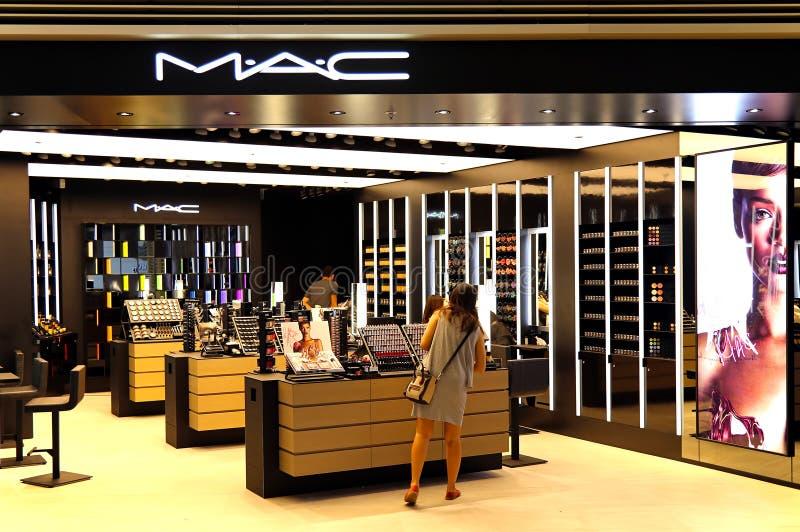 Mac-skönhetsmedeluttag royaltyfria foton