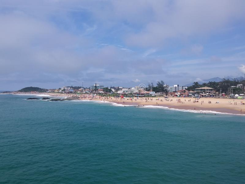 macaé bleu Brésil de côte de plage images stock