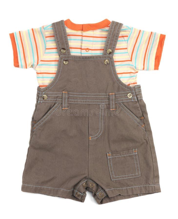 Macacões do bebê ajustados da roupa fotos de stock