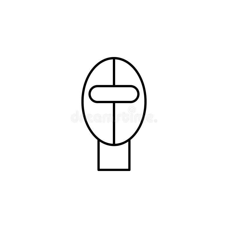 Macacões do esqui, inverno, ícone do esboço do esporte Elemento da ilustração do esporte de inverno Os sinais e o ícone dos símbo ilustração do vetor