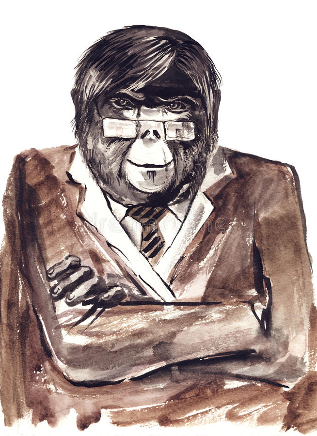 Macaco ilustração royalty free