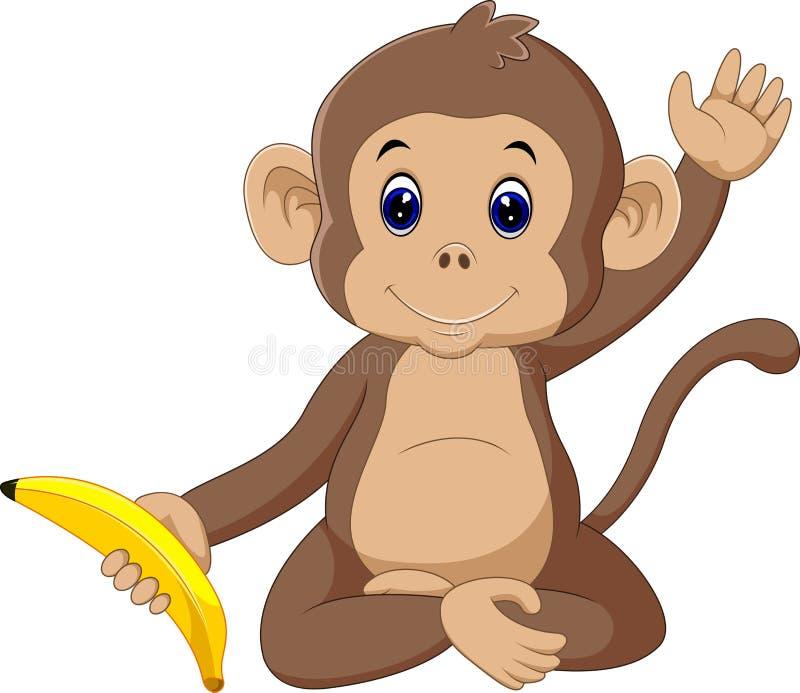 Macaco bonito ilustração stock