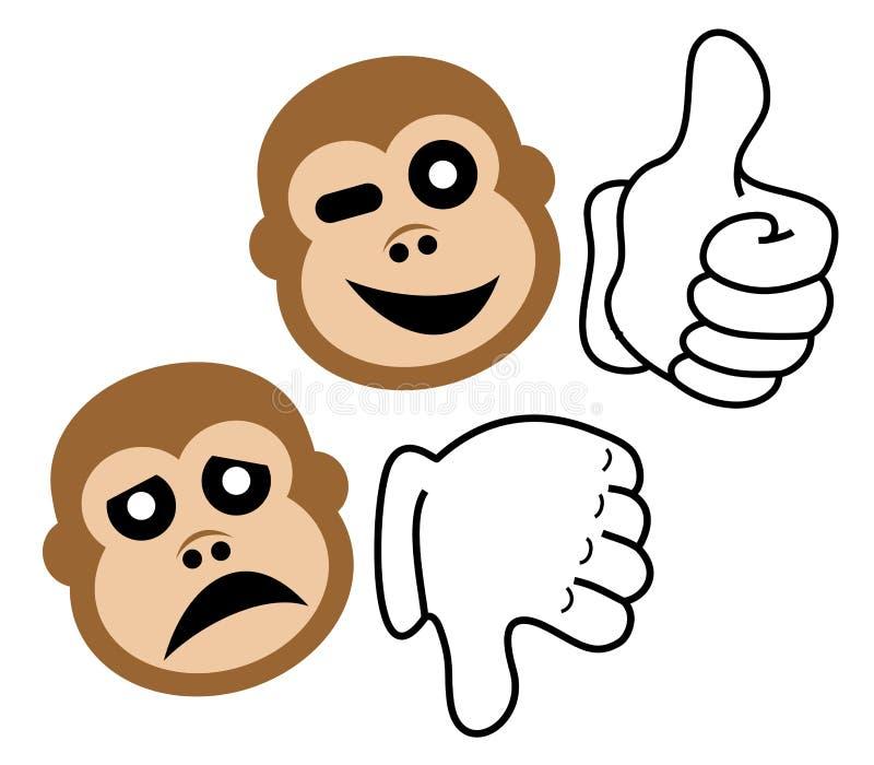 Macaco da expressão ilustração do vetor