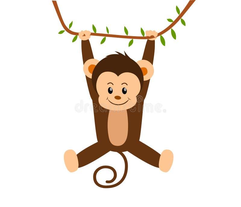 Macaco de balanço ilustração royalty free