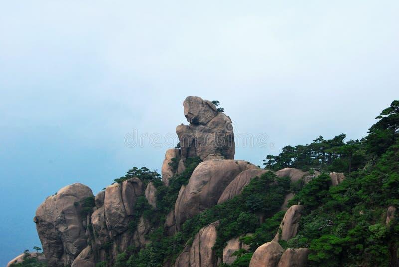 macaco de pedra imagem de stock royalty free