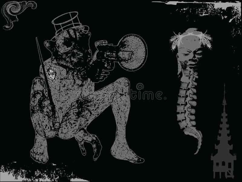 Macaco do atirador ilustração royalty free