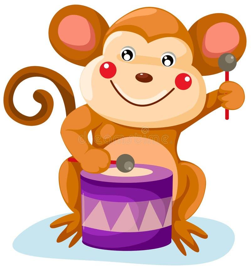 Macaco do circo ilustração stock
