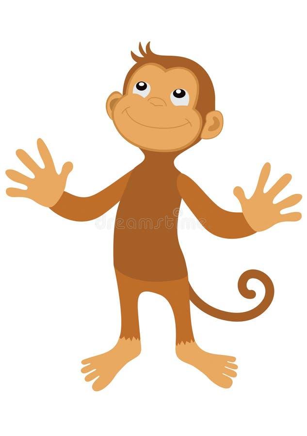 Macaco do sorriso ilustração royalty free