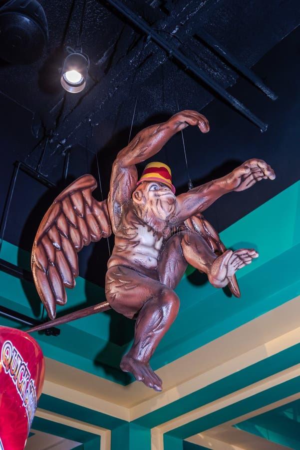 Macaco do voo - casino amarelo da estrada do tijolo - Chittenango, New York fotos de stock