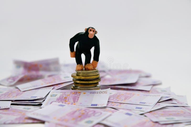 Macaco e dinheiro foto de stock royalty free