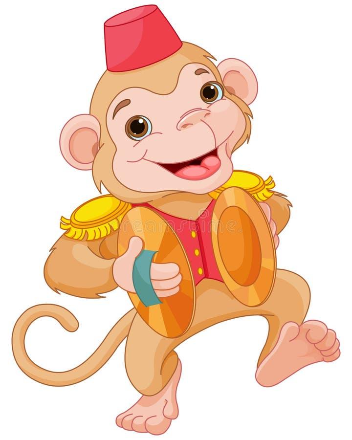 Macaco musical ilustração royalty free