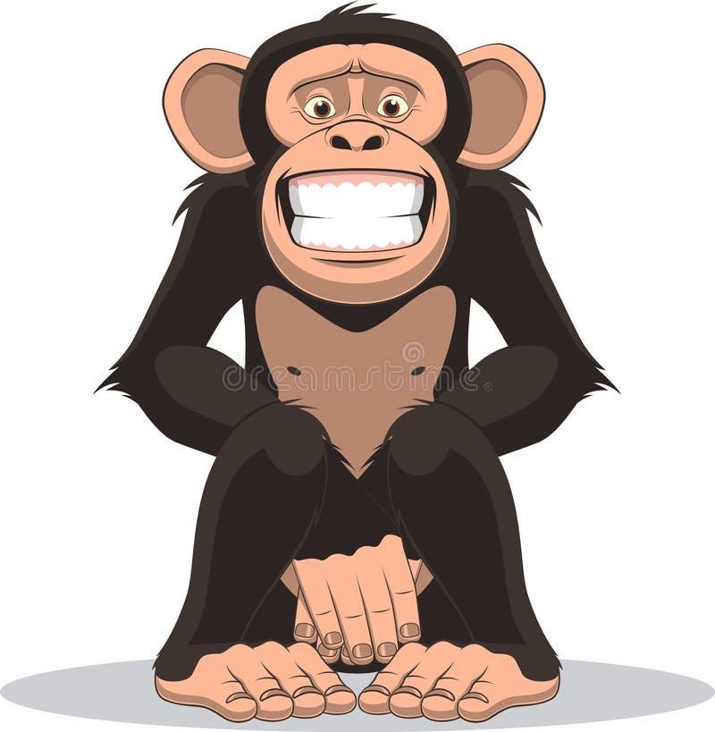 Macaco pequeno engraçado ilustração do vetor