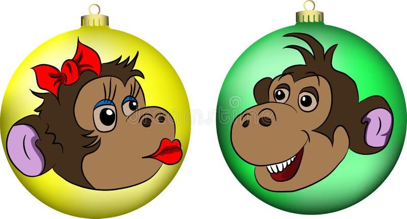 Macacos nas bolas imagem de stock royalty free