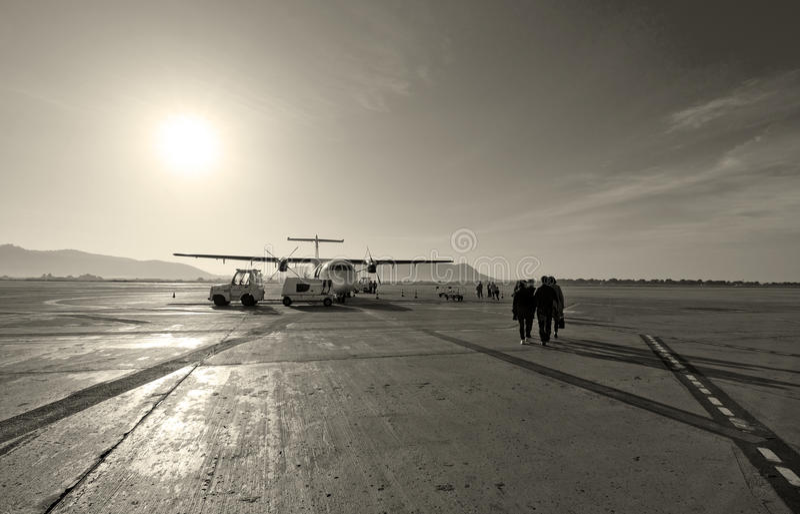 Macadam d'aéroport d'Ibiza images stock